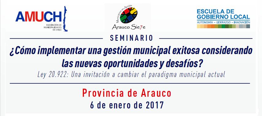 SEMINARIO: ¿Cómo implementar una gestión municipal exitosa considerando las nuevas oportunidades y desafíos?